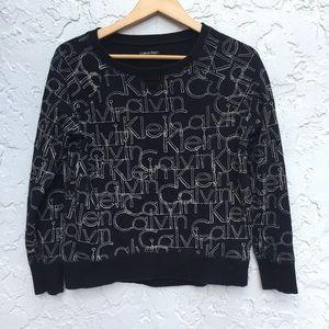 CALVIN KLEIN Size Small Black Cotton Sweater